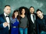 XV Pma.  Sergio Falces, Virginia Martínez, Karla Zulema, David Chapín y Raúl Beunza (parte del equipo de Aragón Musical)